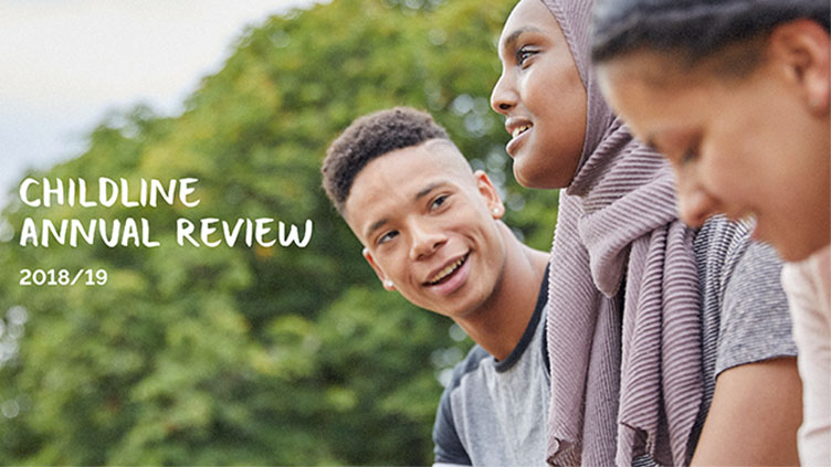 Childline annual review 2018/19 report cover